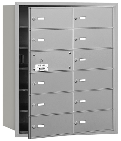 12 Door Front Loading 3612 Salsbury 4B+ Horizontal Mailboxes Product Image