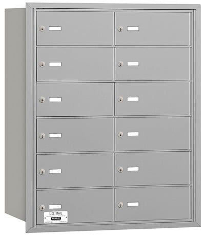 12 Door Rear Loading 3612 Salsbury 4B+ Horizontal Mailboxes Product Image