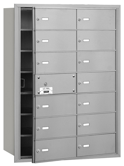 14 Door Front Loading 3614 Salsbury 4B+ Horizontal Mailboxes Product Image