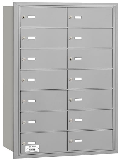 14 Door Rear Loading 3614 Salsbury 4B+ Horizontal Mailboxes Product Image