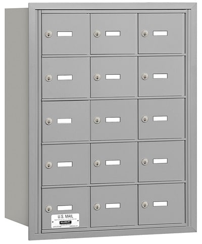15 Door Rear Loading 3615 Salsbury 4B+ Horizontal Mailboxes Product Image
