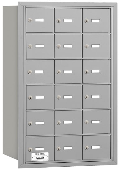 18 Door Rear Loading 3618 Salsbury 4B+ Horizontal Mailboxes Product Image