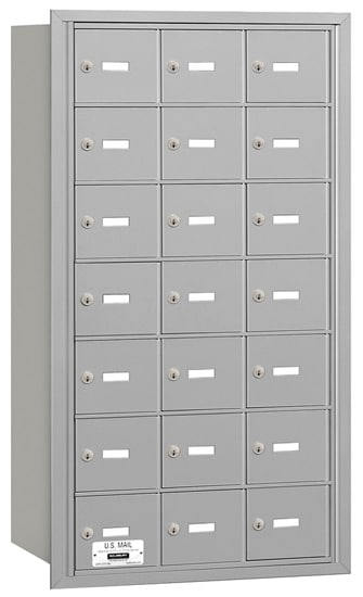 21 Door Rear Loading 3621 Salsbury 4B+ Horizontal Mailboxes Product Image