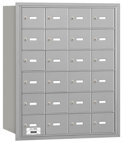 24 Door Rear Loading 3624 Salsbury 4B+ Horizontal Mailboxes Product Image