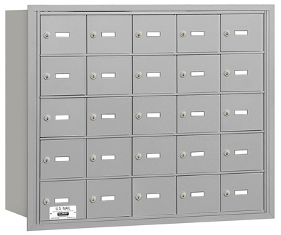 25 Door Rear Loading 3625 Salsbury 4B+ Horizontal Mailboxes Product Image