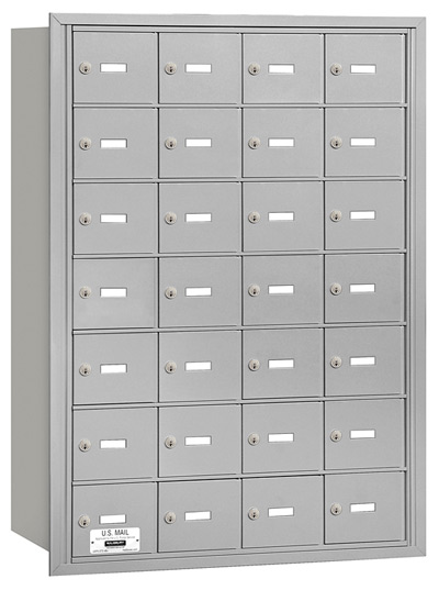 28 Door Rear Loading 3628 Salsbury 4B+ Horizontal Mailboxes Product Image