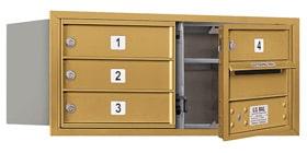Salsbury 4C Mailboxes 3703D-04 Gold