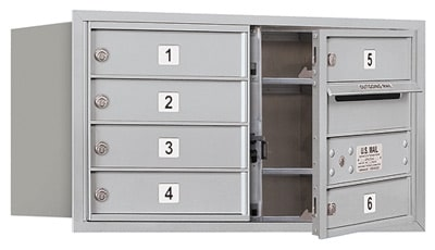 3704D-06 Front Loading Salsbury 4C Horizontal Mailboxes Product Image