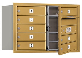 Salsbury 4C Mailboxes 3705D-08 Gold