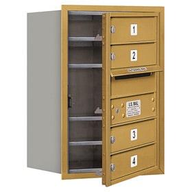Salsbury 4C Mailboxes 3706S-04 Gold