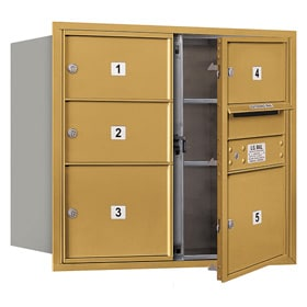 Salsbury 4C Mailboxes 3707D-05 Gold