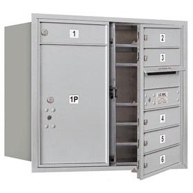 Salsbury 4C Mailboxes 3707D-06 Aluminum