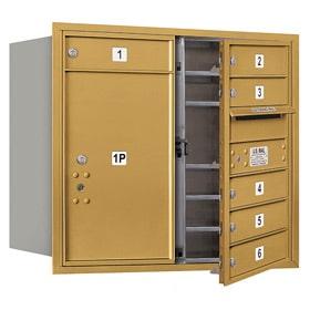 Salsbury 4C Mailboxes 3707D-06 Gold