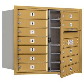 Salsbury 4C Mailboxes 3707D-12 Gold