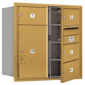 Salsbury 4C Mailboxes 3708D-04 Gold