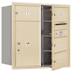 Salsbury 4C Mailboxes 3708D-04 Sandstone