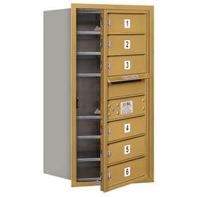 Salsbury 4C Mailboxes 3708S-06 Gold