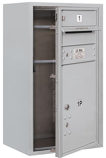 3708S-01 Front Loading Salsbury 4C Horizontal Mailboxes With Surface Mount Enclosure Product Image