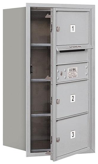 3708S-03 Front Loading Salsbury 4C Horizontal Mailboxes Product Image