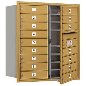 Salsbury 4C Mailboxes 3709D-16 Gold