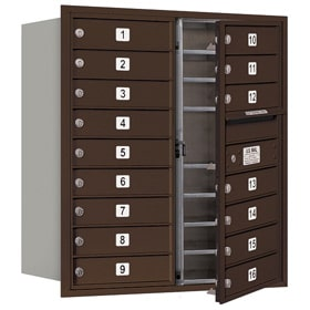 Salsbury 4C Mailboxes 3709D-16 Bronze