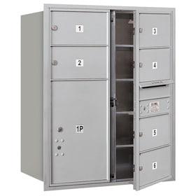 Salsbury 4C Mailboxes 3710D-06 Aluminum