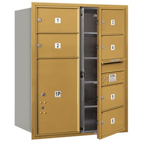 Salsbury 4C Mailboxes 3710D-06 Gold