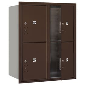 Salsbury 4C Mailboxes 3710D-4P Bronze