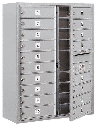 3710D-18 Front Loading Salsbury 4C Horizontal Mailboxes With Surface Mount Enclosure Product Image