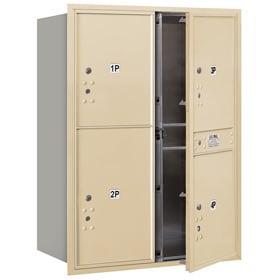 Salsbury 4C Mailboxes 3711D-4P Sandstone
