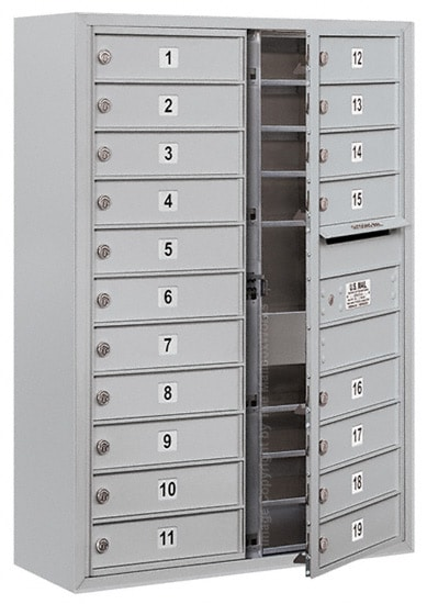 3711D-19 Front Loading Salsbury 4C Horizontal Mailboxes With Surface Mount Enclosure Product Image