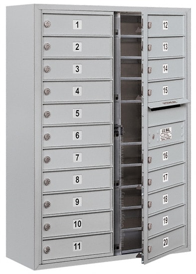 3711D-20 Front Loading Salsbury 4C Horizontal Mailboxes With Surface Mount Enclosure Product Image