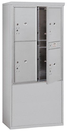 3711D-4P Front Loading Salsbury 4C Horizontal Mailboxes With Free Standing Enclosure Product Image
