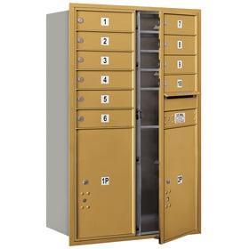 Salsbury 4C Mailboxes 3712D-10 Gold