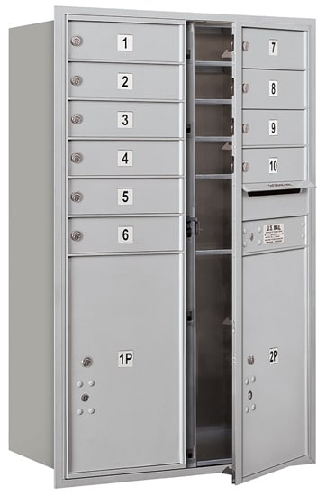 3712D-10 Front Loading Salsbury 4C Horizontal Mailboxes Product Image