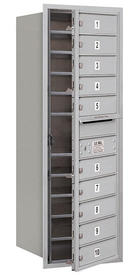 3712S-10 Front Loading Salsbury 4C Horizontal Mailboxes Product Image