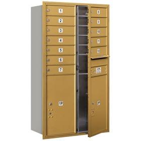 Salsbury 4C Mailboxes 3713D-12 Gold