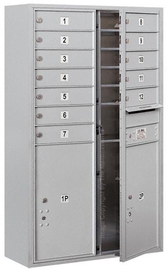 3713D12 Surface Mount Commercial 4C Mailboxes