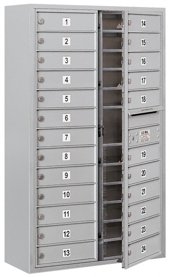3713D-24 Front Loading Salsbury 4C Horizontal Mailboxes With Surface Mount Enclosure Product Image