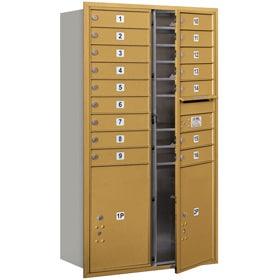 Salsbury 4C Mailboxes 3715D-16 Gold