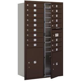 Salsbury 4C Mailboxes 3715D-17 Bronze