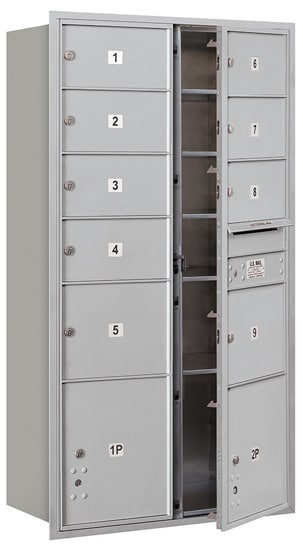 3716D-09 Front Loading Salsbury 4C Horizontal Mailboxes Product Image
