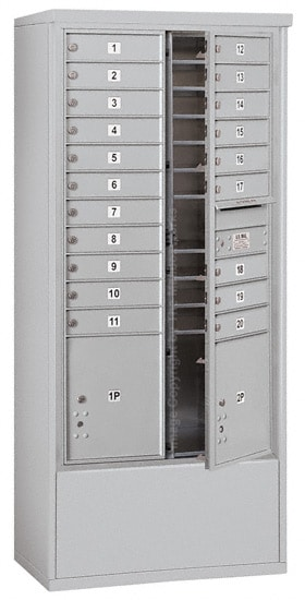 3716D-20 Front Loading Salsbury 4C Horizontal Mailboxes With Free Standing Enclosure Product Image