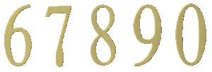 Berkshire Mailbox Brass Numbers