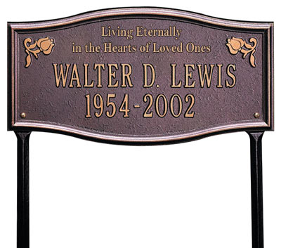 Whitehall Alexandria Living Eternally Memorial Lawn Plaque Product Image