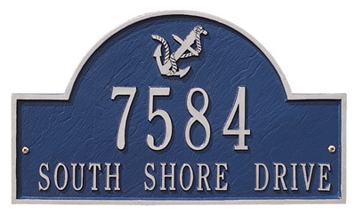 Whitehall Anchor Arch Address Plaque Product Image