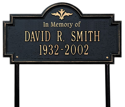 Whitehall Arlington In Memory Of Memorial Lawn Plaque Product Image
