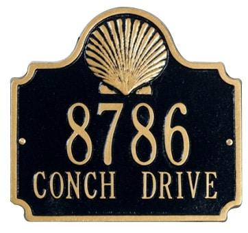 Whitehall Conch Address Plaque