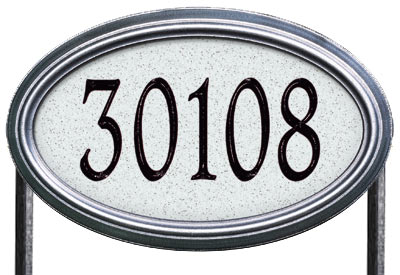 Whitehall Concord Oval Artisan Stone Lawn Address Plaque Product Image