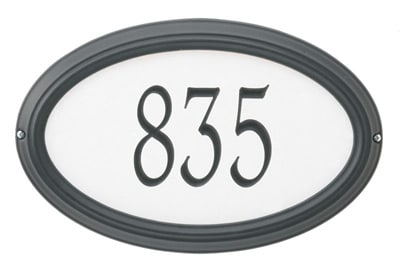 Whitehall Concord Reflective Estate Address Plaque Product Image